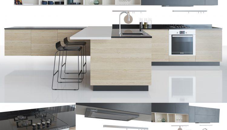 3D Model Kitchen 122 Free Dowload