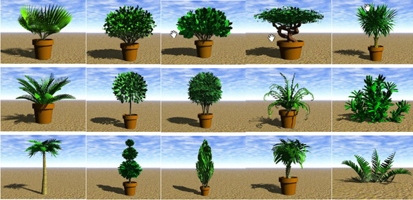 3d Garden Tree Plant Model 284 Free Download