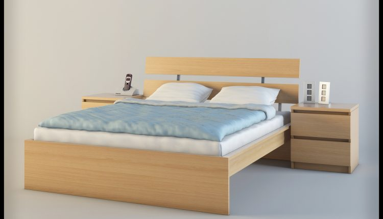 3D Bed Model 92 Free Download