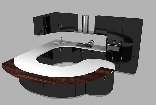 3D Model Kitchen 153 Free Dowload