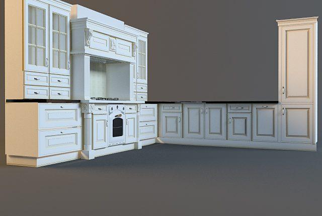 3D Model Kitchen 155 Free Dowload