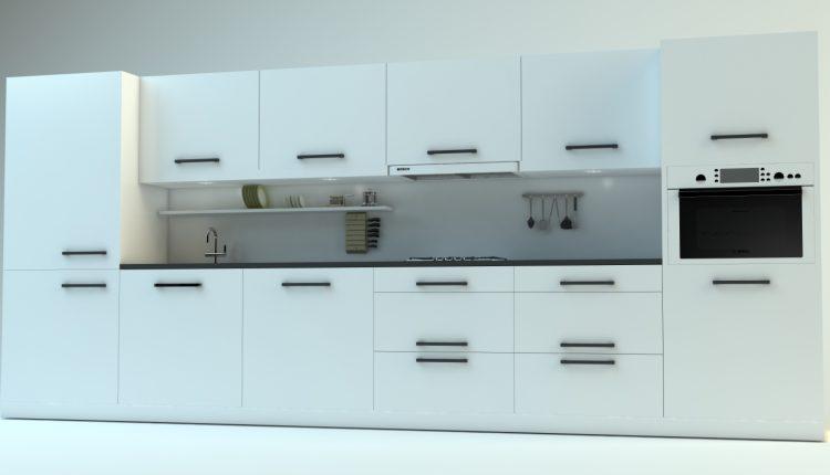 3D Model Kitchen 162 Free Dowload