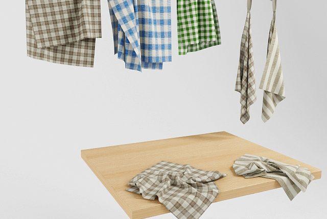 Free 3D Models Kitchen Towels
