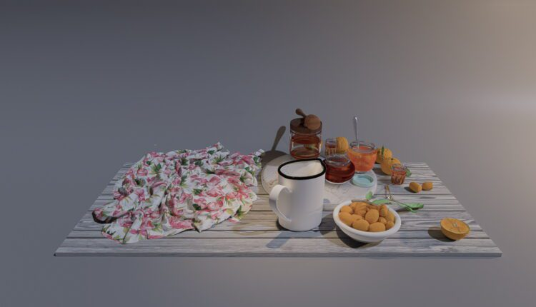 3D Food And Drinks Model 25 Free Download