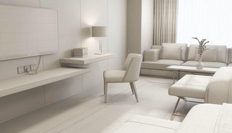 3D Interior Scenes File 3dsmax Model Hotel Guest Room 3
