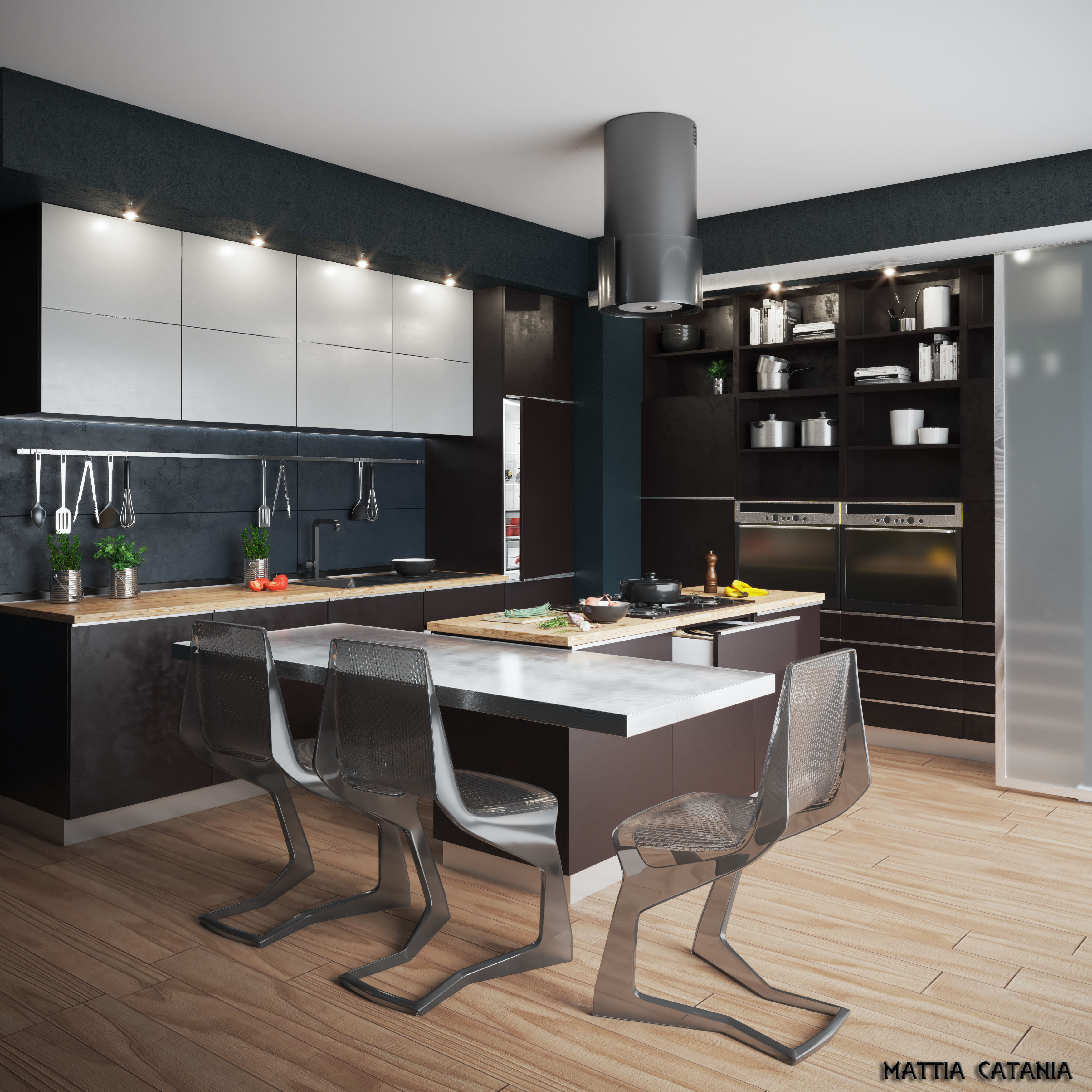 3D Model Kitchen 168 Free Download on Model Kitchen  id=22028