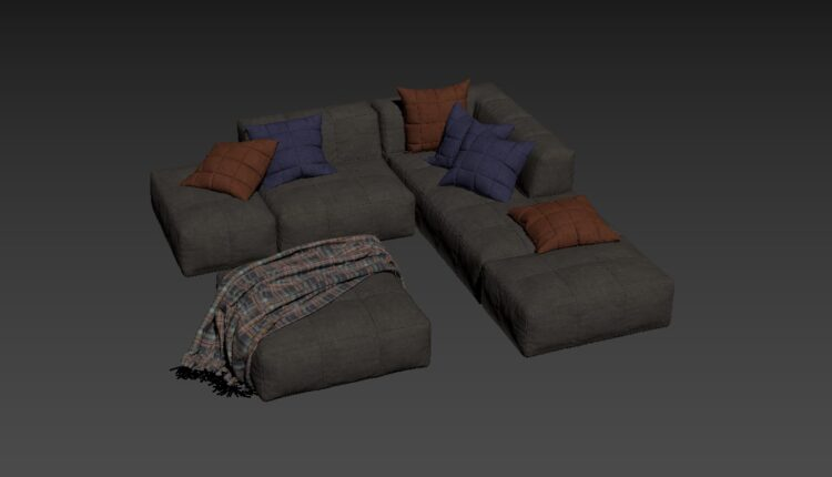 Free 3D Sofa 159 Model Download (1)