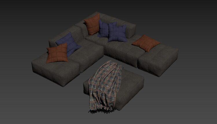 Free 3D Sofa 159 Model Download (2)