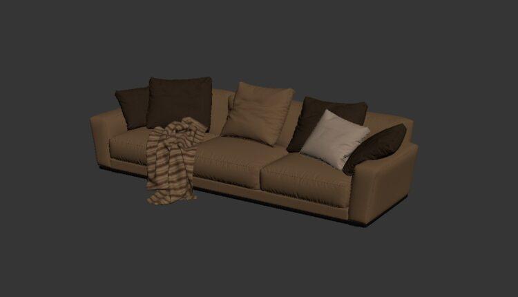 Free 3D Sofa 161 Model Download (1)