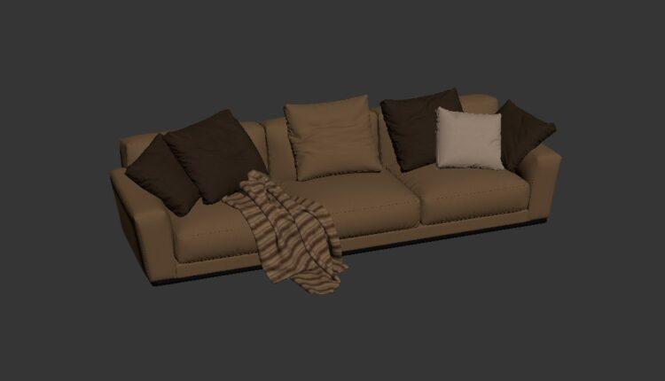 Free 3D Sofa 161 Model Download (2)