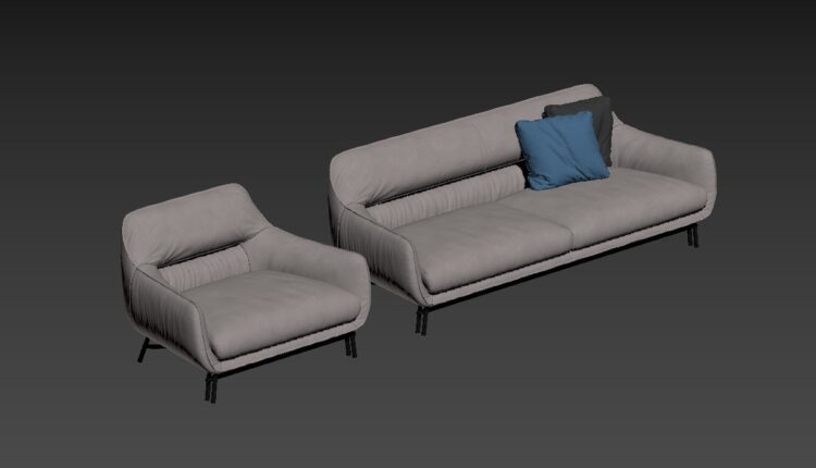 3D Model Sofa 165 Free Download By Dung Nguyen (1)