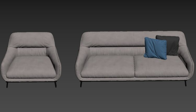 3D Model Sofa 165 Free Download By Dung Nguyen (2)