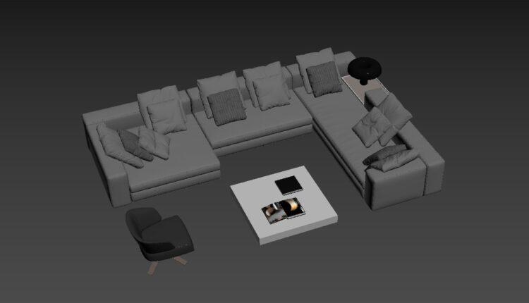 3D Model Set Sofa 175 Free Download (2)