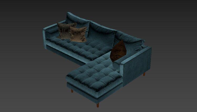 Free 3D Sofa 176 Model Download (1)