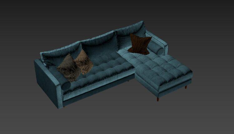 Free 3D Sofa 176 Model Download (2)