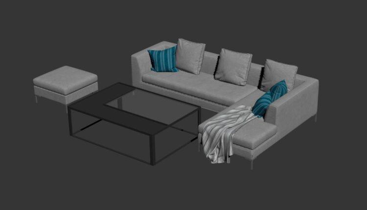 Free 3D Sofa 183 Model Download (1)
