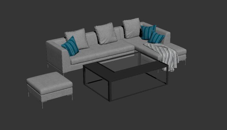 Free 3D Sofa 183 Model Download (2)