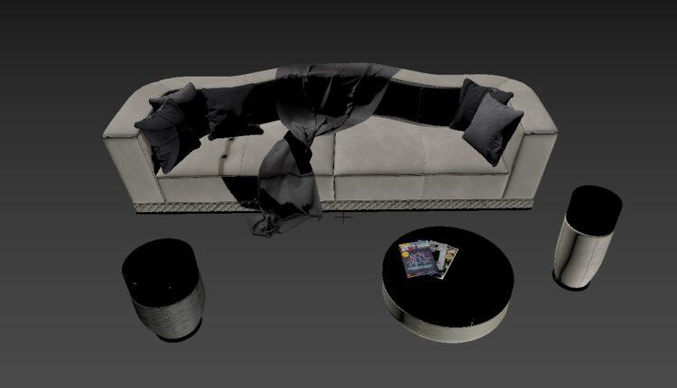 3D Model Sofa 188 Free Download By Nguyen Ha (2)