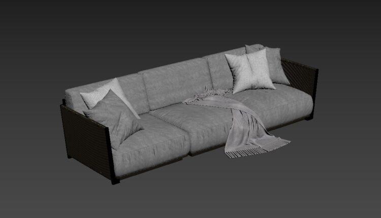 Free 3D Sofa 189 Model Download (2)