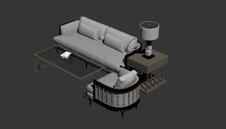 Free 3D Sofa 190 Model Download (1)
