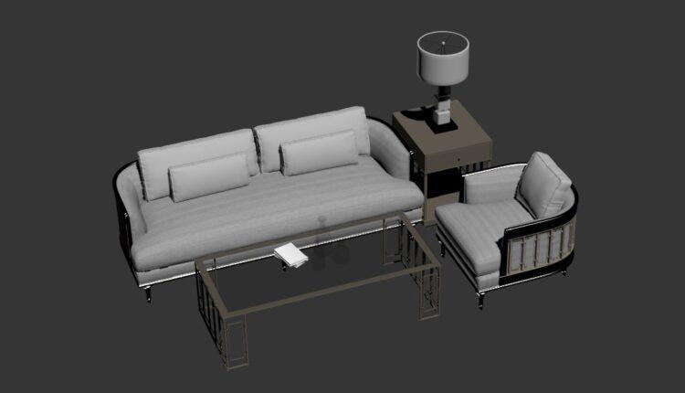 Free 3D Sofa 190 Model Download (2)