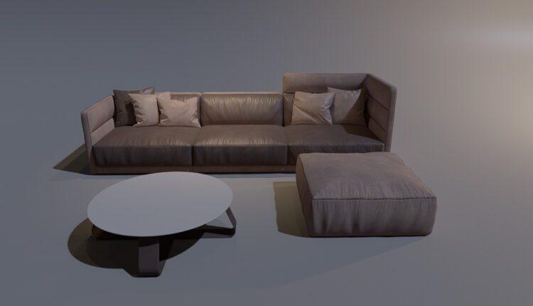 3D Model Sofa 191 Free Download (1)
