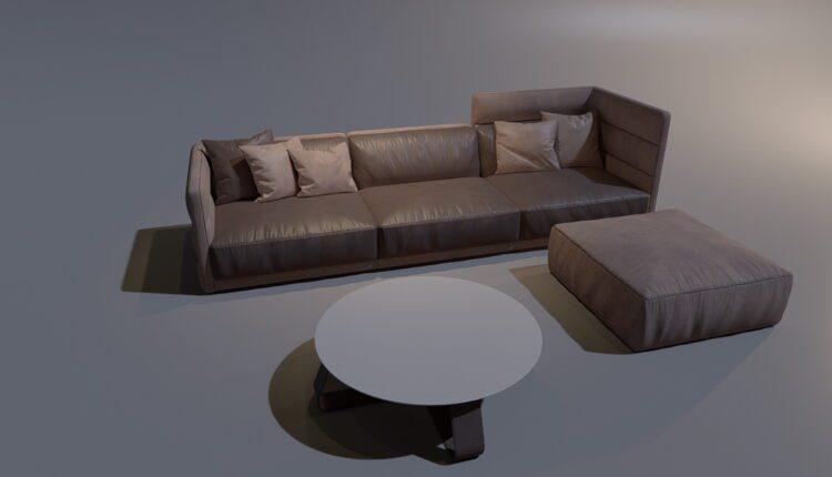 3D Model Sofa 191 Free Download (2)