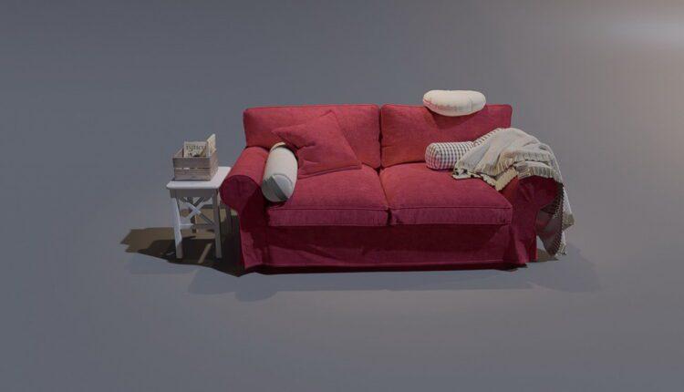 3D Model Sofa Ikea 193 Free Download (1)