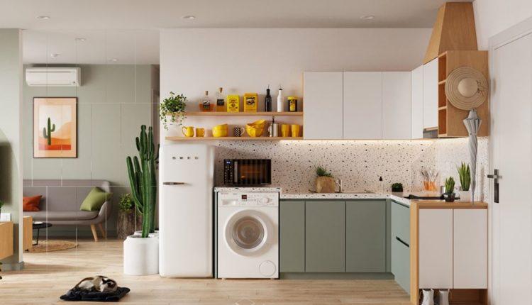 3D Interior Kitchen- Livingroom 77 Scene 3dsmax By DinhVanHuan Free Download 4