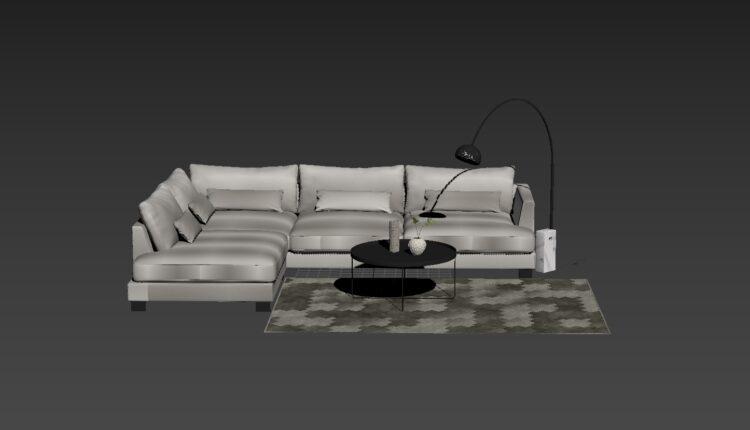 3D Model Cosmo Sofa 195 Free Download (1)