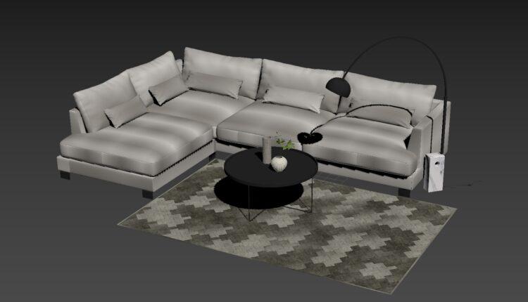 3D Model Cosmo Sofa 195 Free Download (2)