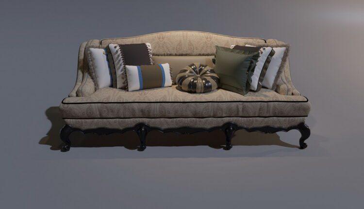 3D Model Sofa 196 Free Download (2)
