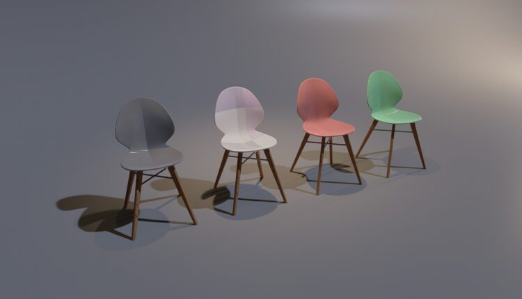 3D Model W chair Free Download (1)
