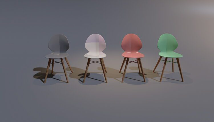3D Model W chair Free Download (2)