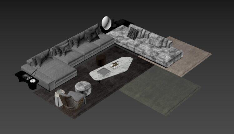 Free 3D Sofa 197 Model Download (1)