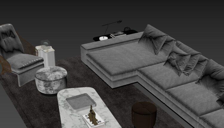 Free 3D Sofa 197 Model Download (2)