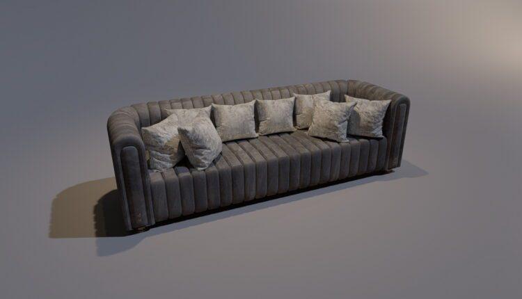 3D Model Sofa Studio 198 Free Download (1)