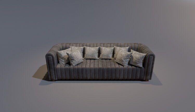 3D Model Sofa Studio 198 Free Download (2)