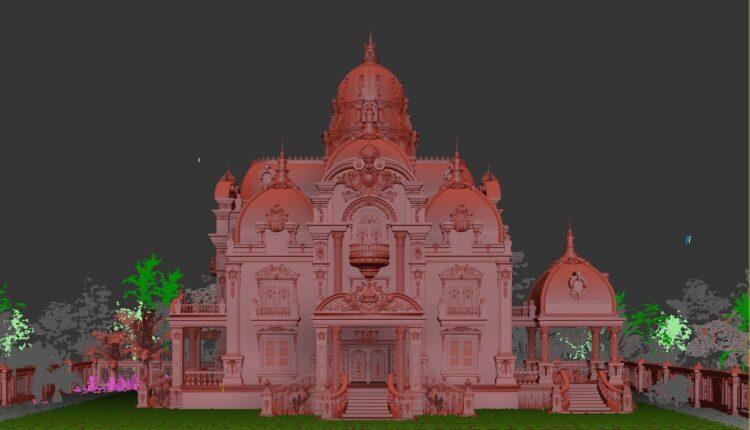 3D Exterior Neoclassical architecture Scene File 3dsmax by Ga Con Free Download