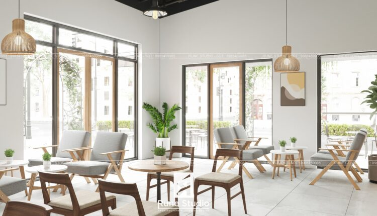 3D Exteriors Coffee Scene Model 3dsmax Free Download By Le Hieu