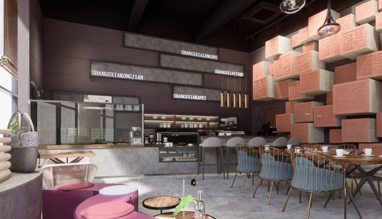 3D Model Interior Coffee 37 Scenes File 3dsmax By Nguyen Quoc Thai 3
