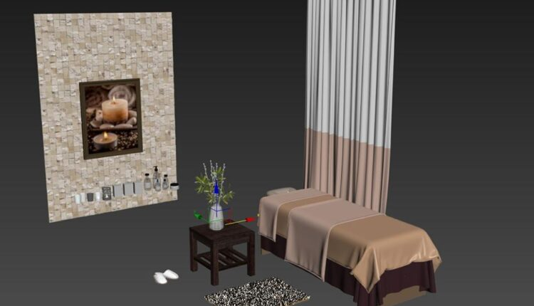 3D Model Set Massage Spa by DuongBui Free Download 1