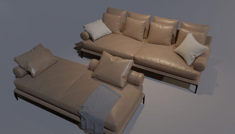3D Model Sofa 1 By MinhNguyen Free Download (1)