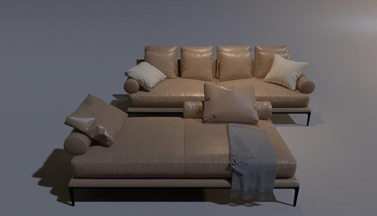 3D Model Sofa 1 By MinhNguyen Free Download (2)