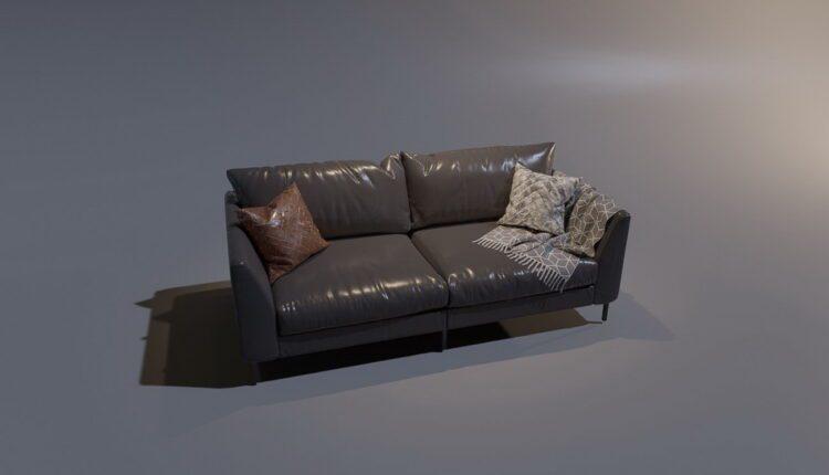 3D Model Sofa 3 By MinhNguyen Free Download (1)