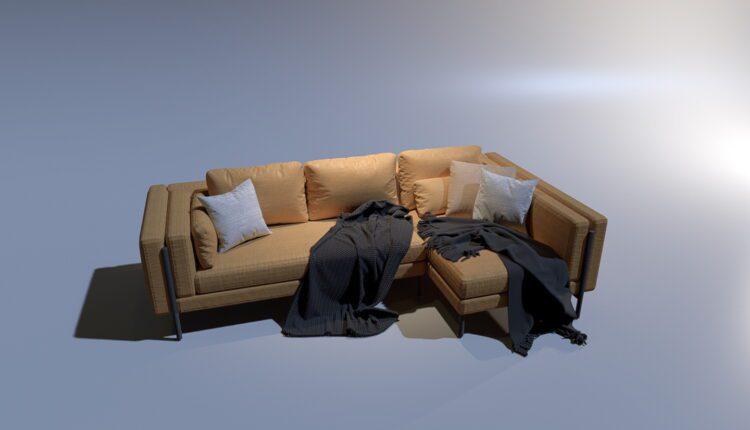 3D Model Sofa 4 By MinhNguyen Free Download (1)
