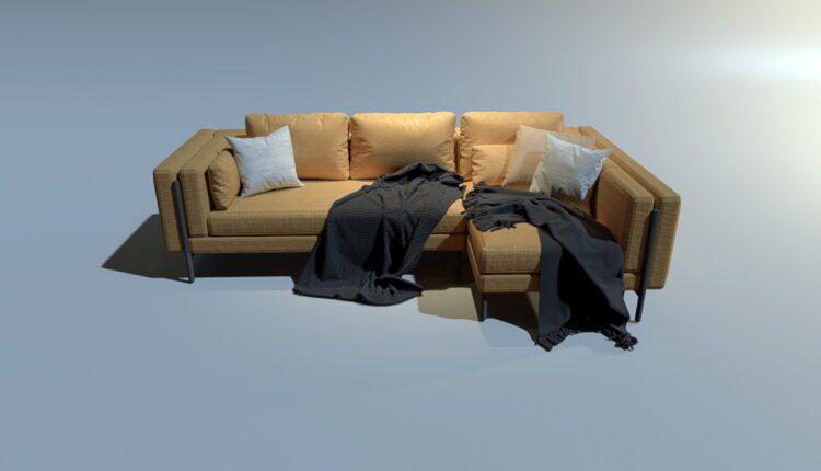 3D Model Sofa 4 By MinhNguyen Free Download (2)