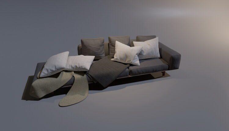 3D Model Sofa 5 By MinhNguyen Free Download (1)