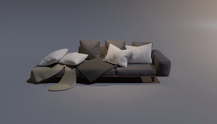 3D Model Sofa 5 By MinhNguyen Free Download (2)