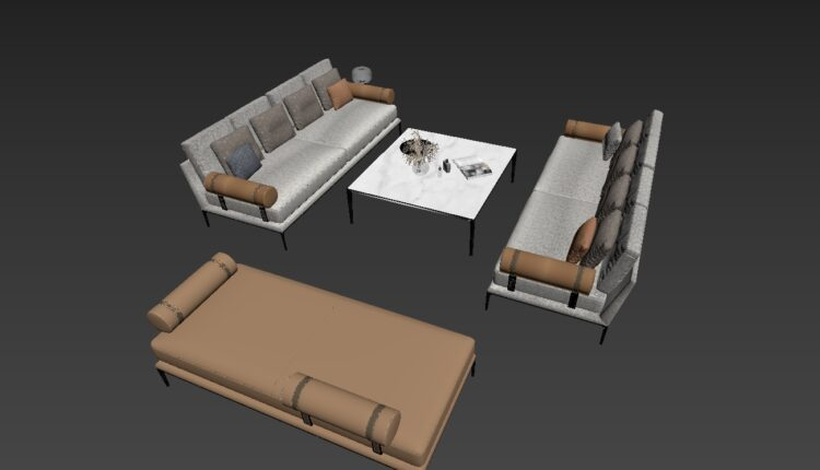 3D Model Sofa By NhatNguyen Free Download (1)